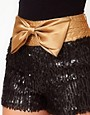 Image 3 ofRare Sequin Shorts With Bow