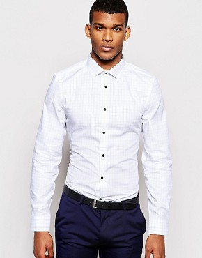 River Island Shirt with Grid Print
