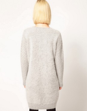Image 2 ofKore by Sophia Kokosalaki Angora Knit Dress With Patterned Sleeve