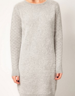 Image 3 ofKore by Sophia Kokosalaki Angora Knit Dress With Patterned Sleeve