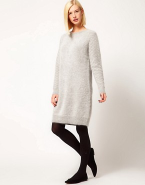 Image 4 ofKore by Sophia Kokosalaki Angora Knit Dress With Patterned Sleeve