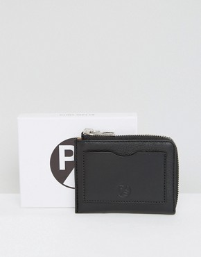 PS By Paul Smith Leather Wallet With Zip Around