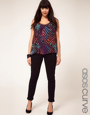 Image 1 ofASOS CURVE Jet Black Skinny Jean #4