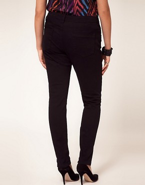 Image 2 ofASOS CURVE Jet Black Skinny Jean #4