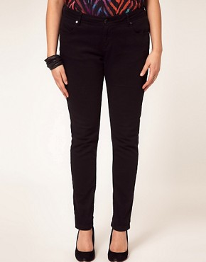 Image 4 ofASOS CURVE Jet Black Skinny Jean #4