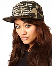 Zephyr Camouflage Stud Snapback Cap