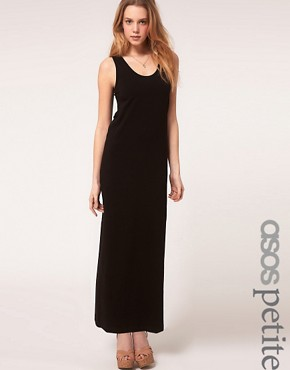 Image 1 ofASOS PETITE Exclusive Jersey Vest Maxi Dress