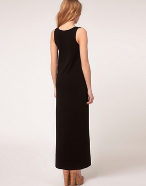 Image 2 ofASOS PETITE Exclusive Jersey Vest Maxi Dress