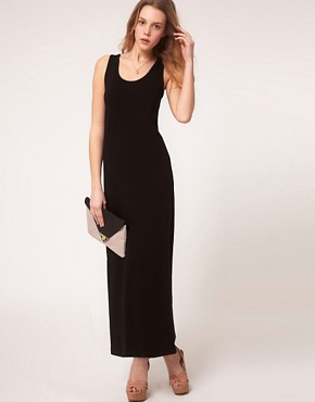 Image 4 ofASOS PETITE Exclusive Jersey Vest Maxi Dress
