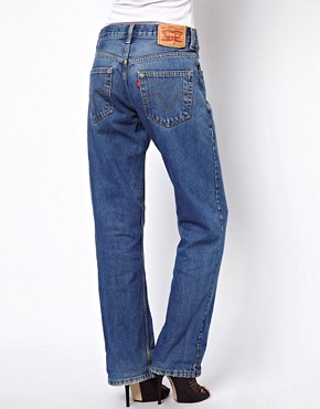 Image 2 ofReclaimed Vintage Levis Boyfriend Jeans in Dark Stonewash