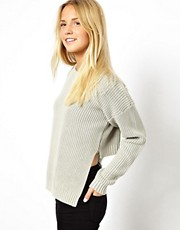 ASOS Chunky Jumper With Stepped Hem