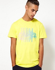 55DSL - Team - T-shirt con stampa fluo
