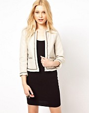 River Island Quilted Leather Look Jacket