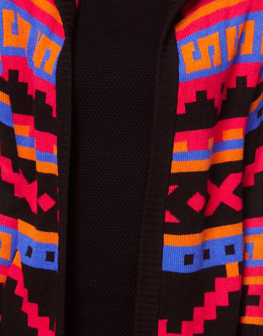 Image 3 ofASOS Pattern Hooded Cardigan