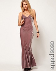 ASOS PETITE Exclusive Maxi Dress In Velvet