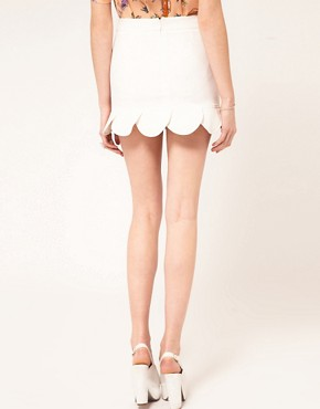 Image 2 ofASOS Mini Skirt With Petal Hem