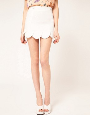 Image 4 ofASOS Mini Skirt With Petal Hem