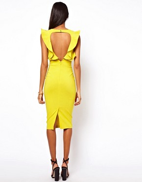 Image 2 ofASOS Pencil Dress With Ruffles
