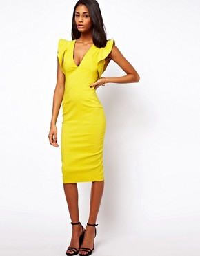 Image 4 ofASOS Pencil Dress With Ruffles