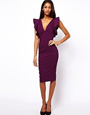ASOS Pencil Dress With Ruffles