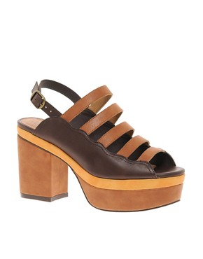 Image 1 ofASOS HISTORY Platform Heeled Sandals