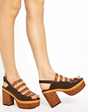 Image 3 ofASOS HISTORY Platform Heeled Sandals
