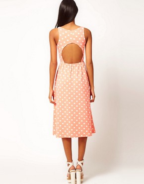 Image 2 ofASOS Midi Dress In Spot Print