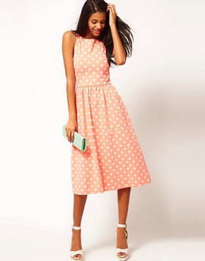 Image 4 ofASOS Midi Dress In Spot Print