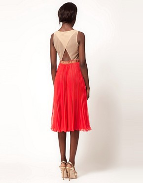Image 2 ofThree Floor French Exchange&#39; Mesh Pleated Midi Dress