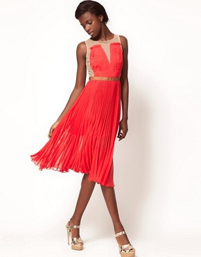 Image 4 ofThree Floor French Exchange&#39; Mesh Pleated Midi Dress