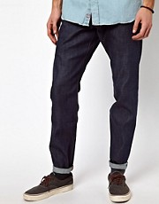 Denim Demon Jeans Ravve Regular Tapered Raw Indigo Stitch Detail
