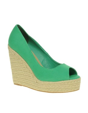 Image 1 ofASOS PENNY Espadrille Wedge Peep Toe Shoes