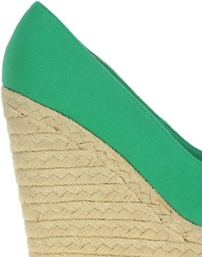 Image 2 ofASOS PENNY Espadrille Wedge Peep Toe Shoes