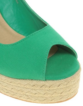 Image 3 ofASOS PENNY Espadrille Wedge Peep Toe Shoes