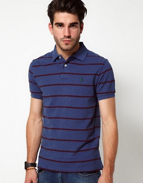 Image 1 ofPolo Ralph Lauren Polo in Slim Fit Marl Stripe