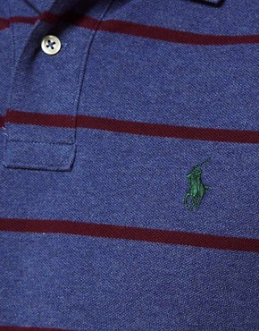 Image 3 ofPolo Ralph Lauren Polo in Slim Fit Marl Stripe