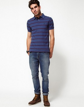 Image 4 ofPolo Ralph Lauren Polo in Slim Fit Marl Stripe