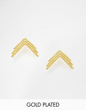 The 2Bandits Triple Arrow Stud Earrings