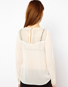 Image 2 ofWarehouse Lace Gathered Tunic
