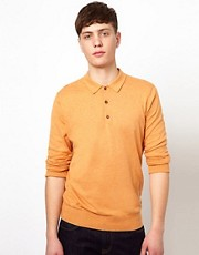 Ben Sherman Knitted Polo with Long Sleeves