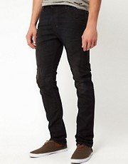 Diesel - Krooley 0806Q - Jeans dritti nero slavato