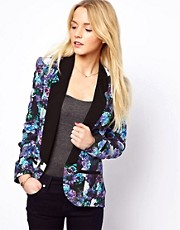 A Wear Digital Floral Blazer