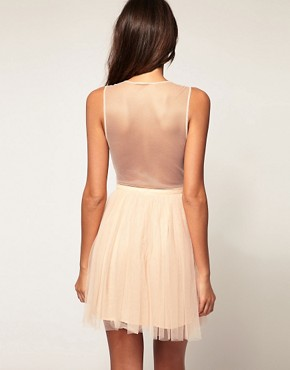 Image 2 ofASOS Party Dress in Mesh