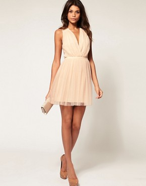 Image 4 ofASOS Party Dress in Mesh