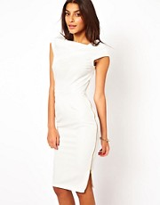 ASOS Pencil Dress With Cowl Neck And Zip Side