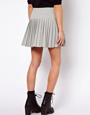 Image 2 ofASOS Pleated Mini Skirt with Drop Waist