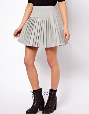 Image 4 ofASOS Pleated Mini Skirt with Drop Waist