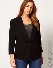 ASOS CURVE Cropped Tailored Blazer