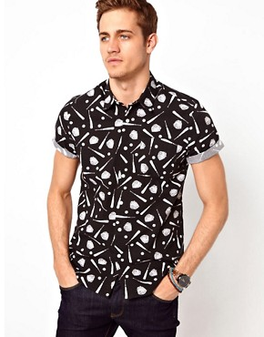 Image 1 ofASOS Shirt With Baseball Print