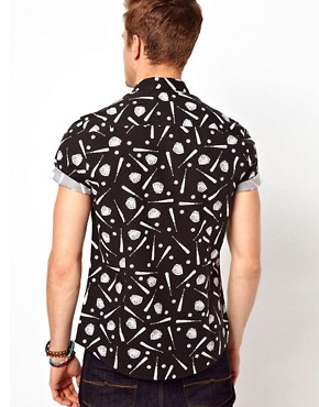 Image 2 ofASOS Shirt With Baseball Print
